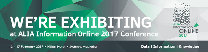 ALIA National 2017 - We're Exhibiting (Website Banner)